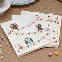 Patchwork Owl Party Napkins - Patchwork Owl - Party Themes - Adult Party