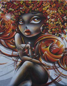 Beautiful Street Art Mural Portraits by Vinie Graffiti 3d Street Art, Street Art Graffiti, Graffiti Artwork, Art Mural, Wall Art, African American Art, African Art, Photographie Street Art, Art Et Nature