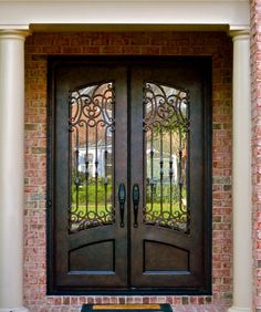 Clark Hall Doors Entry Hand Carved Wood And Wrought Iron