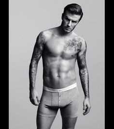 David Beckham in a portrait from H&M, 2012