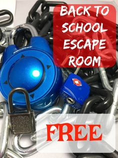 Free Back to School Escape Room – Education Escape Room Diy, Escape Room For Kids, Escape Room Puzzles, Back To School Activities, Middle School Science, Beginning Of School, First Day Of School, School Ideas, Breakout Edu