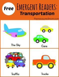 Books http://www.themeasuredmom.com/free-printable-emergent-readers-transportation-sight-word-see/