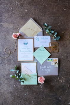 Mint + gold industrial wedding style | Trisha Kay Photography | see more at http://fabyoubliss.com (1)