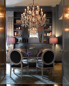 glam l sexy l sophisticated l décor l gray l chandelier l style