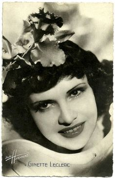 Beautiful, sultry French actress Ginette Leclerc (1912-1992), who often played the vamp role during her acting career in the 30s and 40s. #vintage #French #actress #1930s #movies #films