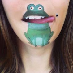 Frog face painting