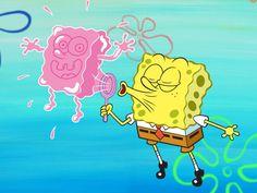 SpongeBob Blowing A SpongeBob Bubble