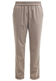 TULIPA - Stoffhose - stein Elegant, Sweatpants, Business, Outfits, Fashion, Stone, Trousers, Classy, Moda