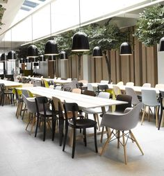 Quality Hotel Expo in Norway by Haptic Architects Modern Architecture Interior Design Inspiration Design Café, Cafe Design, House Design, Hotel Restaurant, Restaurant Design, Restaurant Chairs, Hotel Interiors, Office Interiors, Commercial Design