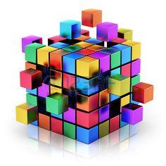 Abstrato criativo business teamwork, internet e estrutura de metal cor conceito de comunica photo