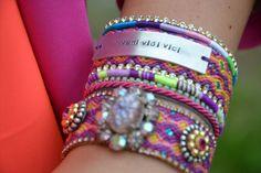 #Gypsy cuff series AW2012  #Bohemian #hippie #friendshipbracelet  by #OOAKjewelz, €110.00