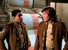 Boomer (Herbert Jefferson Jr.) & Capt. Apollo (Richard Hatch) - Battlestar Galactica (1978-79)