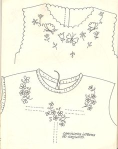 Grand Sewing Embroidery Designs At Home Ideas. Beauteous Finished Sewing Embroidery Designs At Home Ideas. Embroidery Neck Designs, Baby Embroidery, Hardanger Embroidery, Types Of Embroidery, Hand Embroidery Patterns, Vintage Embroidery, Vintage Sewing, Embroidery Stitches, Sewing Patterns