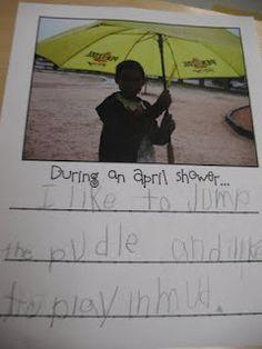 Cute writing activity