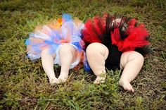 House divided baby tutus for twins... One twin wears LSU and one twin wears AGGIES!