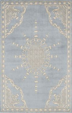 Momeni Harmony HA31 Ice Blue Rug