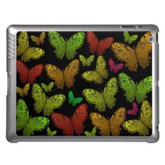 Red & green Butterfly iPad case by valxart.com
