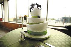 Romantic kissing moose cake topper