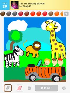 lol But good skills. Safari - Draw Something Safari, Drawing Games, Lol, Draw Something, Some Girls, Color Themes, Pin Collection, Life Is Good, Baby Gifts