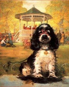 Cocker Spaniel Images, American Cocker Spaniel, Cocker Spaniel Puppies, English Springer Spaniel, Dog Clip Art, Dog Art, Dog Expressions, Cute Animal Illustration, Dogs