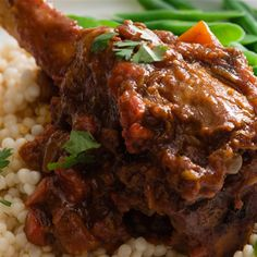 Moroccan lamb rice with almonds recipe arabic food recipes moroccan lamb shanks forumfinder Image collections