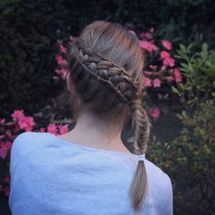 Feathered Dutch braid combo by @yiyayellow :)