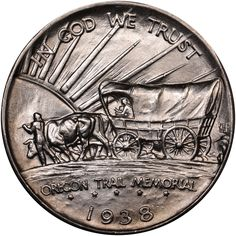 Use the NGC Coin Explorer to get the latest Silver Commemoratives auction prices realized, including the 1938 OREGON TRAIL MS. Old Coins, Rare Coins, Gold And Silver Coins, Silver Bars, Valuable Coins, Coin Design, Coin Art, American Coins, Oregon Trail
