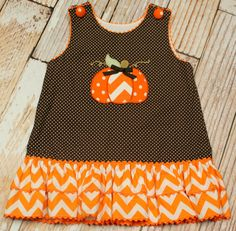 Stellybelly Chevron Pumpkin A-Line Dress