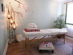 Reiki and Swedish Massage Therapy Room