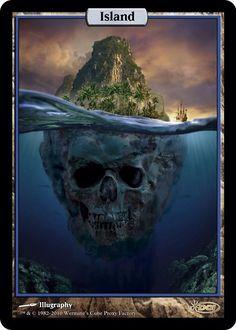 super cool Magic: the Gathering Island alter