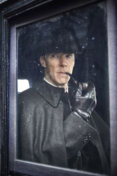 """Sherlock Holmes (Benedict Cumberbatch) in the pre-season 4 special, """"The Abominable Bride"""", which premieres January 2016 Sherlock Bbc, Sherlock Series, Sherlock Holmes Benedict Cumberbatch, Benedict Cumberbatch Sherlock, Sherlock Quotes, Watson Sherlock, Sherlock Poster, Funny Sherlock, Sherlock Season"""