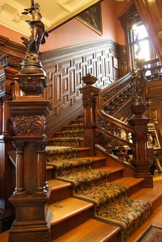 what b&b travel looks like Image by qmnonic When we travel, where we stay is half the adventure. Hotel travel doesn't appeal to either of us, it's more of Wooden Staircases, Wooden Stairs, Stairways, Spiral Staircases, Painted Stairs, Victorian Interiors, Victorian Decor, Victorian Homes, Grand Staircase