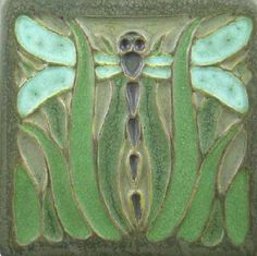 回 Tile o Phile 回  Meadow Dragonfly Tile from Long Crow Bungalow