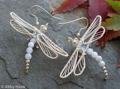 Dragonfly Earrings - Blue Lace Agate