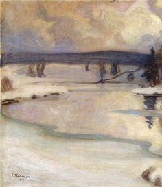 """Winter Landscape"", 1919 - Pekka Halonen, Finland."