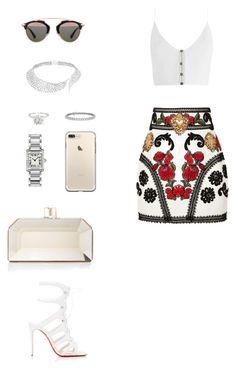 """House of Madalani"" by houseofmadalani on Polyvore featuring Dolce&Gabbana, Zimmermann, Christian Louboutin, Judith Leiber, Cartier, Christian Dior, Blue Nile and Messika"