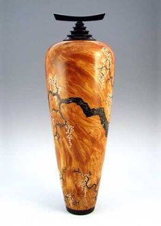 Stephen Hatcher ~ the artistry of turned and carved wood, with added wood and translucent crystal insets