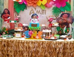 "Moana Hawaiian Luau / Birthday ""OMARION and Apryl Jones' daughter Amei's First Birthday"" 