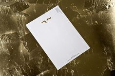 Logo and gold foiled envelope and headed paper for UK model agency Linden Staub by London-based graphic design studio Bibliothèque.