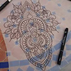 seven echek ( Traditional Tattoo Old School, Traditional Tattoo Design, Traditional Tattoo Flash, Mandala Sleeve, Mandala Tattoo, Hamsa, Geometric Tattoo Design, Geometric Tattoos, Arabesque