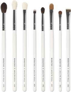Really great brush set by Morphe x Jaclyn Hill. She can rock a killer eye look like no other. Have a staring contest with Jaclyn using her go-to blending and buffing powerhouses with the Morphe X Jaclyn Hill The Eye Master Collection. Makeup Brush Cleaner, Makeup Brush Holders, Makeup Brush Set, Eye Makeup Brushes, How To Clean Makeup Brushes, Makeup Tools, Morphe Eye Brushes, Highlighter Brush, Concealer