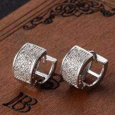 "Auth sterling silver 925 Brand new, material: auth sterling silver 925 tips with silver plated , size 0.3""/0.5"" Woowaa Jewelry Earrings"