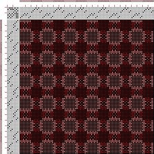 Drawdown Image: Figurierte Muster Pl. XL Nr. 1, Die färbige Gewebemusterung, Franz Donat, 8S, 8T