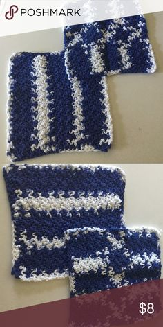 ed73e80c478d4 2 Handmade Washcloths Brand new!! My mom makes these awesome crochet items.  Ngozi