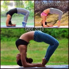 Progress in yoga, it's good to document your success to remind yourself of what you've accomplished