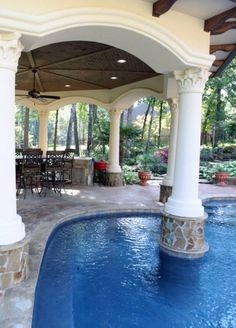 Lovely! Image only but love the column in the pool! Great design.