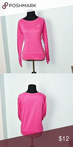 Adidas Climawarm Pink Lightweight Sweater In excellent condition! Super soft, stretchy, and lightweight! Buy 3 items and get 1 free plus 15% off your purchase total! adidas Sweaters