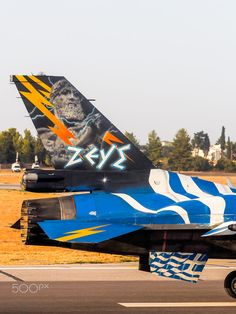 Mirage 2000 - 5 display - Hellenic Airforce at Athens Flying Week, Combat Wing - Tanagra Fighter Aircraft, Fighter Jets, Hellenic Air Force, F 16 Falcon, Greek Flag, Aircraft Painting, Nose Art, Aviation Art, Model Airplanes