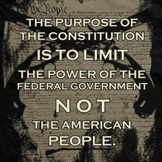 The purpose of the Constitution is to limit the power of the federal government, not the American People.