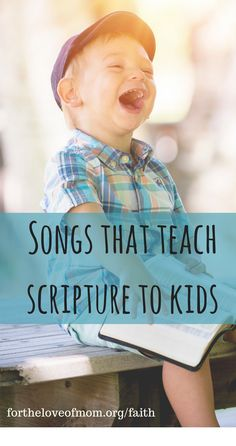 Songs are a great way to teach Biblical truths and stories to young children, especially the musically and aurally oriented. Songs from this list can be combined effectively with Bible lessons to help children remember the lessons they learn. Bible Songs For Kids, Preschool Bible Lessons, Bible Study For Kids, Bible Lessons For Kids, Toddler Bible Crafts, Bible Activities For Kids, Bible Stories For Kids, Bible Games, Quotes Children